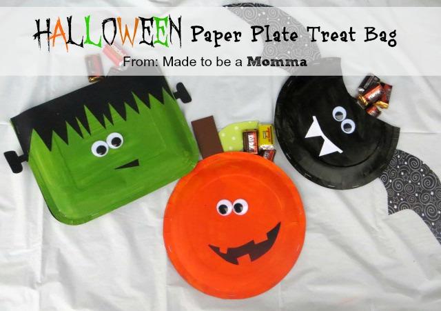 Halloween Paper Plate Treat Bag