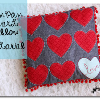 Pom+pom+heart+love+pillow+tutorial
