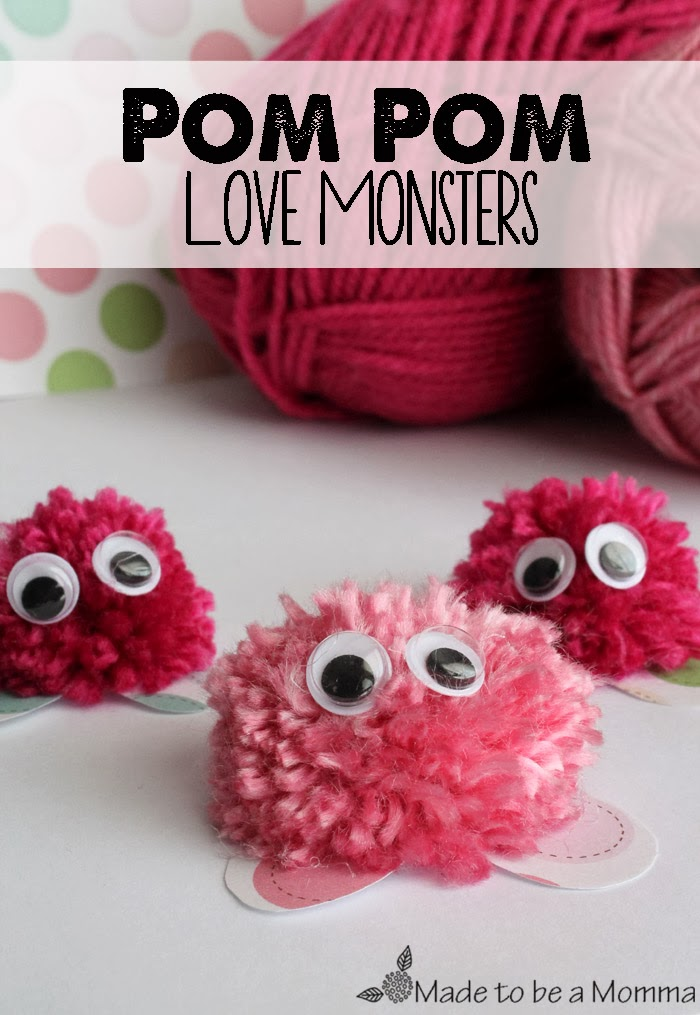 Kids contributor pom pom love monsters sugar bee crafts for Where to buy pom poms for crafts