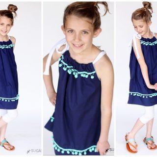 Pom+pom+pillowcase+dress+tutorial
