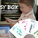 Busy Boxes with Printable Labels {Preschool Contributor}