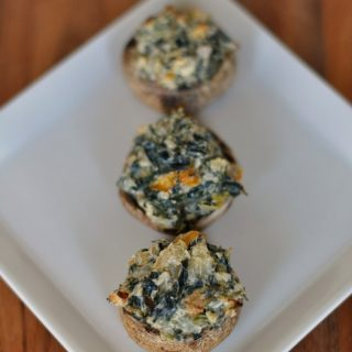 {Food Contributor} Spicy Spinach Artichoke Mushrooms
