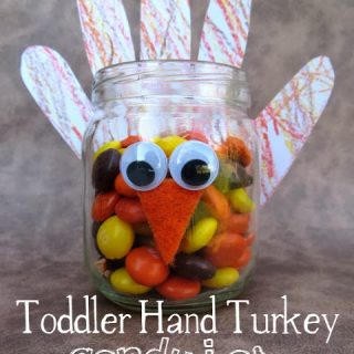 Toddler Hand Turkey Candy Jar
