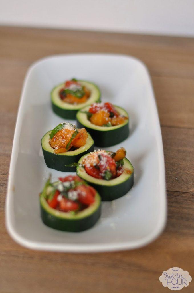 {Food Contributor} Bruschetta Zucchini Bites