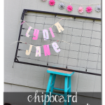 Baby Name Pennant (with Chipboard)