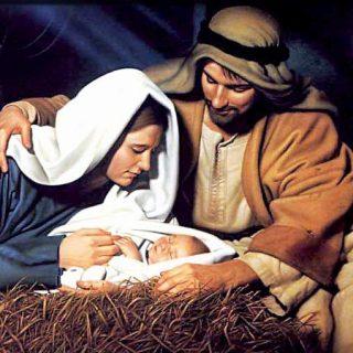 Baby jesus mary joseph by dewey