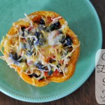 {Food Contributor} Chicken Enchilada Stuffed Peppers