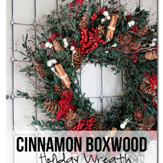 Cinnamon+boxwood+holiday+wreath