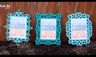 Classroom printable fun frame