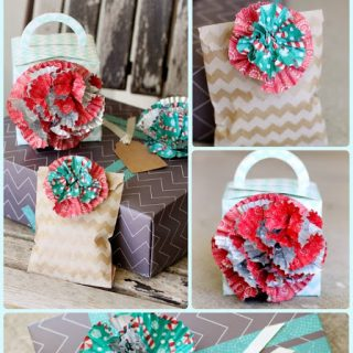 Cupcake+liner+bow+flower+wrappers+gift+embellishments