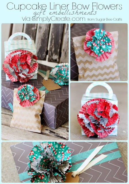 Cupcake Liner Bow Flowers Sugar Bee Crafts