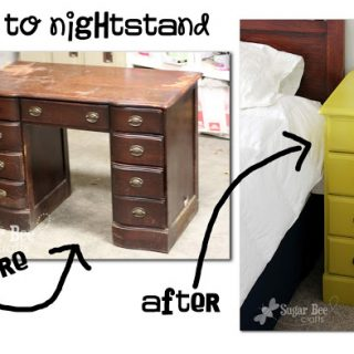 Nightstands – from a desk!