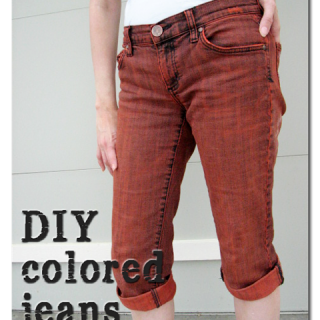 Diy+colored+jeans+dyed+tutorial