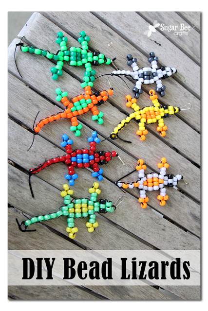 pony bead lizard tutorial sugar bee crafts