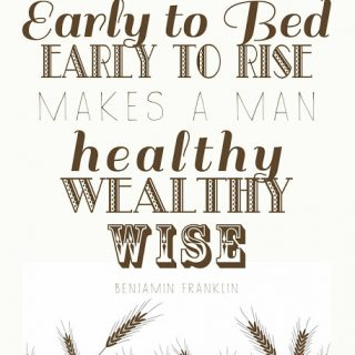 Free Printable: Early to Bed