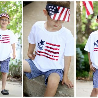 Flag bandana shirt make your own