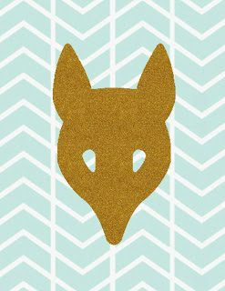 fox head herringbone printable