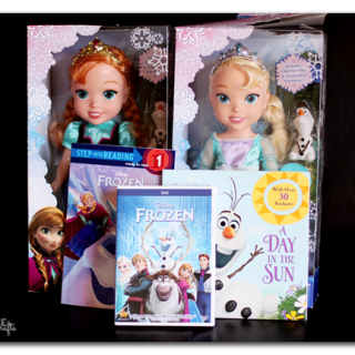 Frozen+dolls+and+books