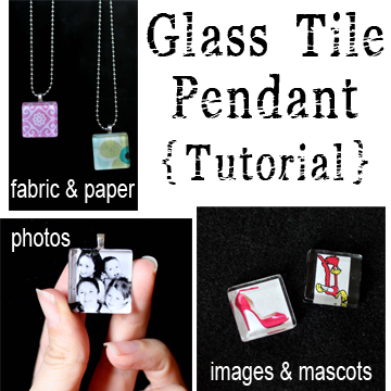 Glass tile pendants sugar bee crafts want to know how to make a glass tile pendant theyre super easy you can do this heres a brief tutorial aloadofball Image collections