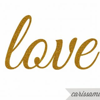 Carissa Miss: Glitter Gold Printable