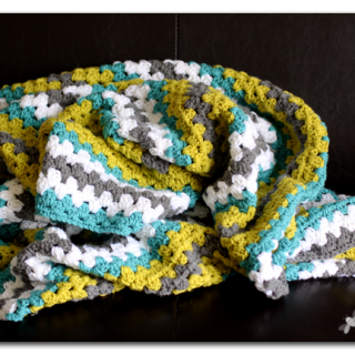 Granny Stripe Crochet Afghan Throw Blanket