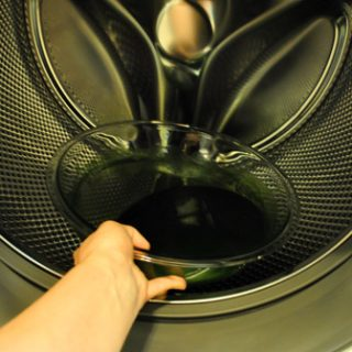 Green in washer