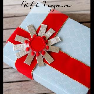 Gum+sunburst+gift+topper