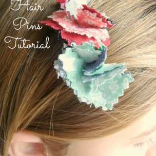 Hexagon Flower Hair Pin Tutorial