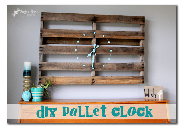 Diy pallet clock a re love makeover sugar bee crafts for Crafts made with pallets