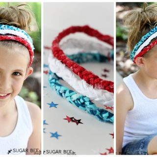 Red White Blue Braided Headbands – no sew!