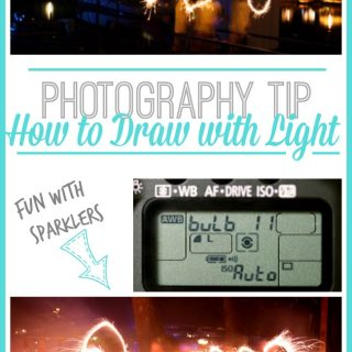Drawing with Light (aka, photo fun with SPARKLERS!)