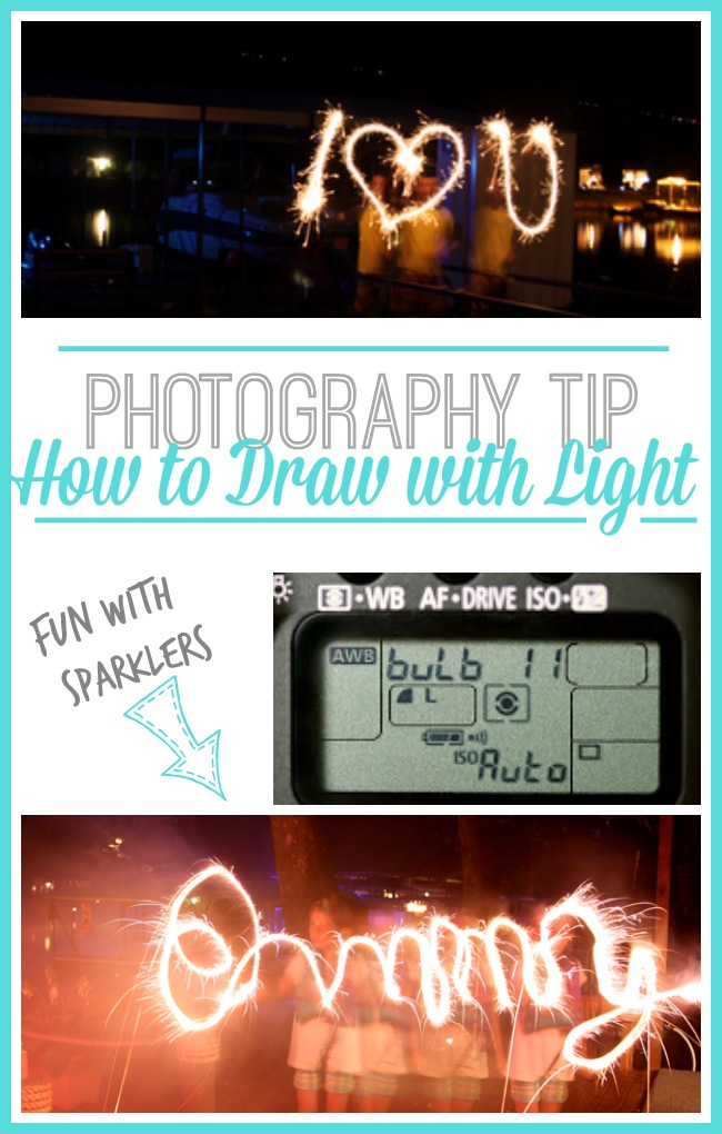 how to draw with light in photos sparklers