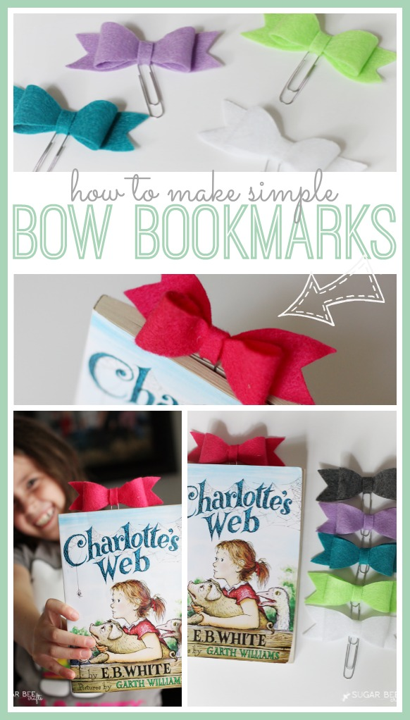 Bow bookmark sugar bee crafts How to make a simple bookmark