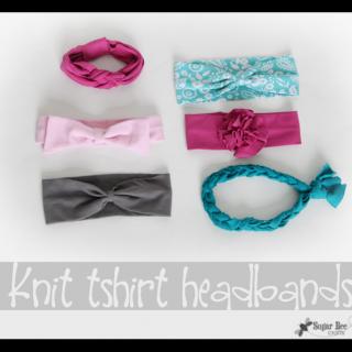 Knit+tshirt+headbands