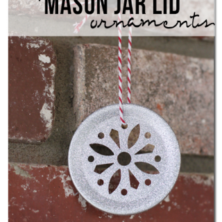 Mason+lid+snowflake+glitter+ornament+holiday+craft+diy