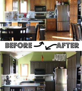 Painted+kitchen+cabinets+rustoleum+transformations+