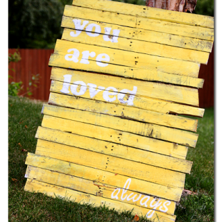 Pallet+sign+you+are+loved+always+wood