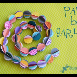 Paper+ball+garland