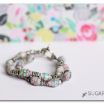 Rolled Paper Beads Bracelet (a how-to tutorial)