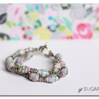 Paper+beaded+bracelet+how+to+make