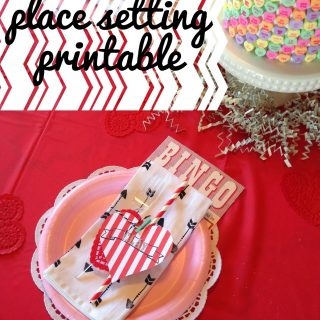 Valentine Place Setting & Free Printable