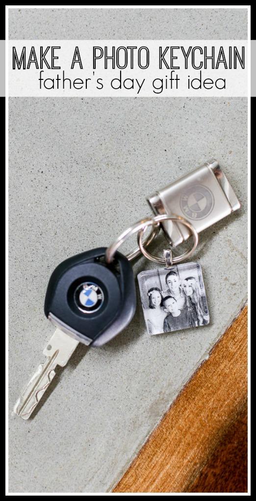 Photo keychain dad gift idea