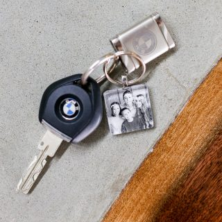Photo keychain fathers day craft gift idea 2