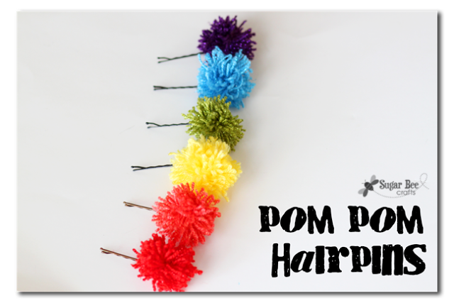 Pom pom hairpins sugar bee crafts for Where to buy pom poms for crafts