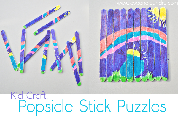 Kid Craft Contributor – Popsicle Stick Puzzles