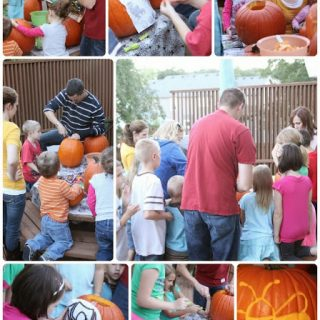Pumpkin+carving+ +during+activity