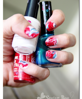 Red+white+and+blue+nails