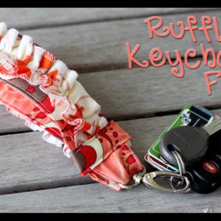 Ruffled+keychain+fob