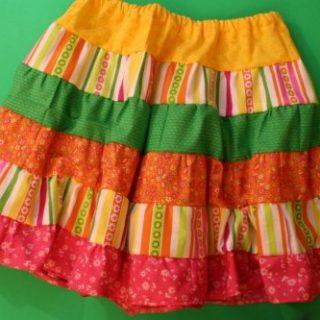 Ruffled tiered skirt 500