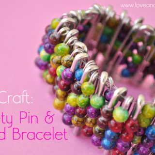 Safety+pin+and+bead+bracelet